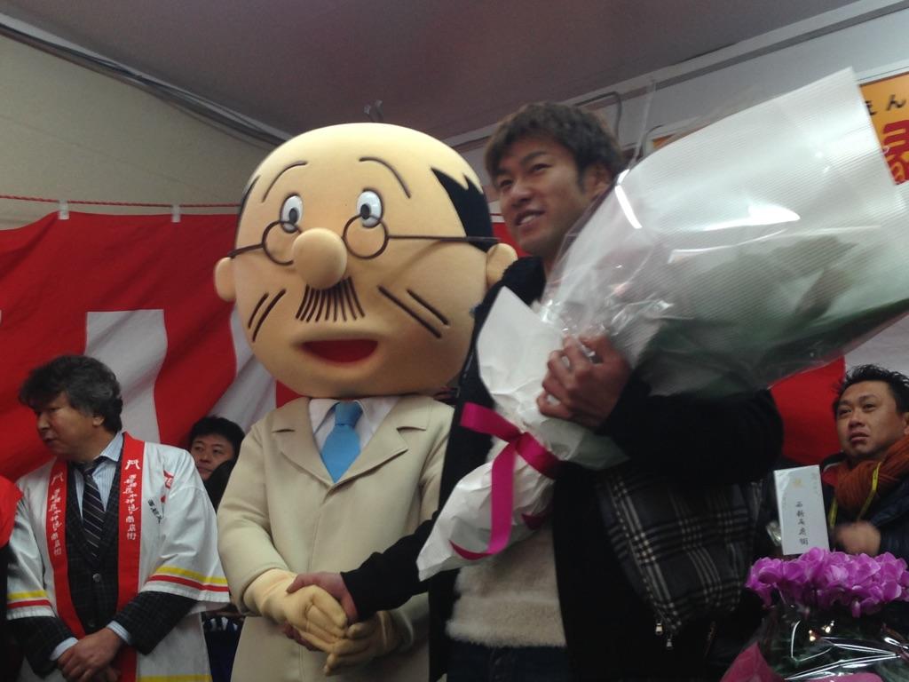 柳田選手と海平さん