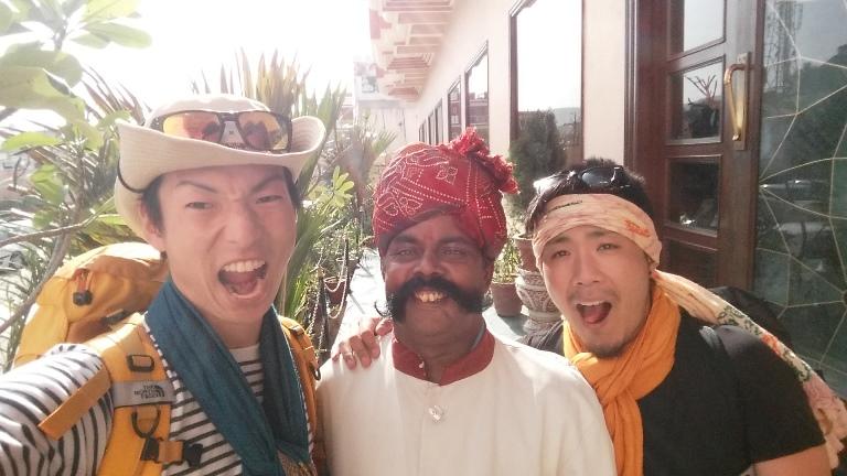 インド旅バックパック